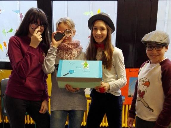 """""""Sir Fox Bones""""- Kreative Ideen beim Englisch-Leseprojekt der 6. Klassen"""