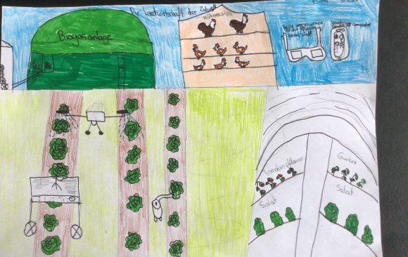 """""""Landwirtschaft der Zukunft"""" – Ideen und Bilder aus den 5. Klassen"""