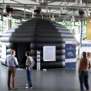 Die Sterne zum Greifen nah – Das LWL Pop-up-Planetarium am KANT